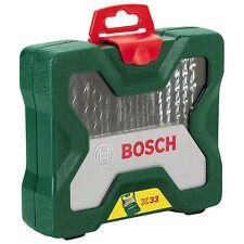 Bosch 33Piece Masonary Metal Wood Drill Driver Set 2607019325 3165140379489 828V