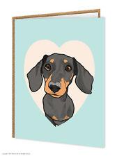 DASCHUND / amoureux de chiens/ ANNIVERSAIRE/CARTE DE VOEUX/brainbox CANDY/MIGNON
