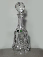 BOHEMIA Lead Crystal Spirit Decanter with Stopper Made in Czech Republic New