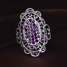 Silver Plated 4 Color Cubic Zricon Lovely Design Women's Ring Birthday Gift