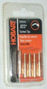 5 Hobart 770174 Mig Welding Contact Tips Fits Miller or Hobart .023 Dia 000-066