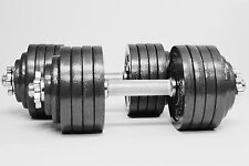 Adjustable Dumbbells Fitness Weight Set Gym Barbell Body Workout Training Health