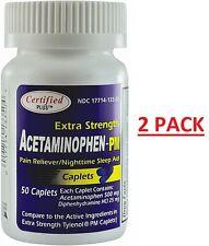 Extra Strength Pain Relief + Nighttime Sleep-Aid Generic Tylenol PM 100 Caplets