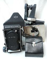 Mittelformat-Kamera Mamiya C330 mit Sekor 1:2,8 80mm, 2 Sucher, Paramender