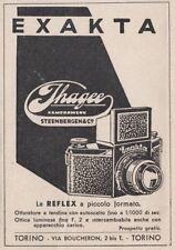 Z3708 Macchina fotografica EXAKTA Jhagee - Pubblicità d'epoca - 1940 advertising
