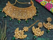 Bollywood Ethnic Gold Plated Traditional Indian Necklace Set Bridal jewelry
