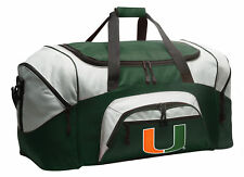 University of Miami Duffel Bag Gym Bags Suitcase LOADED w/ POCKETS