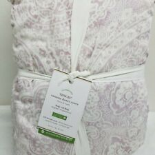 Pottery Barn KING VANESA PRINTED TENCEL DUVET COVER Lavender