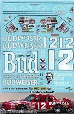 NASCAR DECAL #12 BUDWEISER 1985 MONTE CARLO NEIL BONNETT - 1/24 - HTF