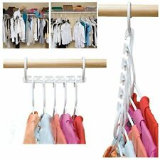 in White, Magical Cascading Hangers, Space Saving Solution for Your