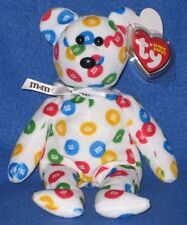 TY M&M's  MULTI-COLOR BEAR BEANIE BABY (WALGREEN'S EXCLUSIVE) - MINT w/ MINT TAG