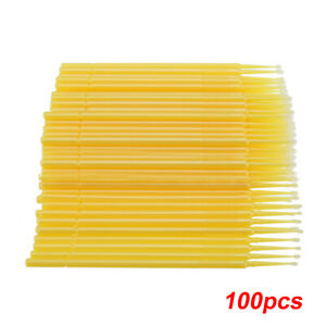 Car Touch Up Paint Micro Brush -100 Brushes -Small Tip s 1.0mm -Micro Applicator