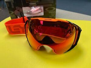 OAKLEY AIRBRAKE XL FACTORY PILOT SNOW GOGGLES - EXTRA FOG LENS - NEW