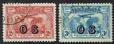 AUSTRALIA 1931 AIRMAIL OS 2D AND 3D USED
