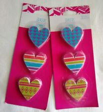 Heart Shaped Erasers - 2 Packages - New in Package