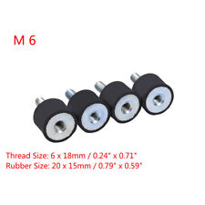 4Pcs M6 Rubber Shock Absorber Anti Vibration Isolator Mounts Car Bobbin Thread