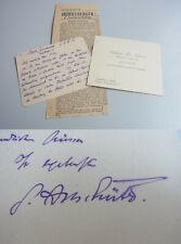 Staatsrechtler Gerhard Anschuetz (1867-1948) Signed Letter Berlin 1916 Side Dish