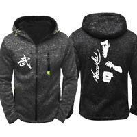 Bruce Lee Hoodie Warm Jacket Sport Sweatshirt UFC Full-Zip Coat Spring COAT