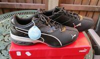 Mens Puma Tazon 6 Trainers Black And Silver UK 9 Brand New In Box