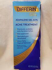 Differin Adapalene Gel 0.1% Acne Treatment 1.6oz / 45g NEW - Expires 2022+