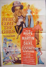 HERE COME THE GIRLS VINTAGE MOVIE POSTER BOB HOPE ONE SHEET 1953