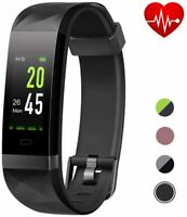 LETSFIT High-End Fitness Trackers HR, IP68 Waterproof Fitness Watch with Heart R