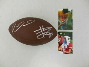 TRAVIS KELCE & PATRICK MAHOMES AUTOGRAPHED SIGNED NFL WILSON FOOTBALL w/COA