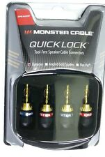 MONSTER CABLE QL GMT-H MKII QuickLock Banana Plug Connectors, 2 pair