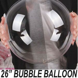 "26"" inch Bubble Balloon Transparent Big Giant Ballon Birthday Wedding Party deco"