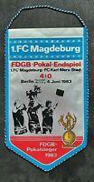 Orig. Wimpel 1.FC Magdeburg Karl Marx Stadt FDGB Pokal Sieger DDR Oberliga FCM