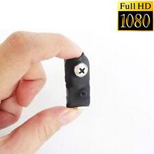 1080P smallest mini spy hidden Screw CAM nanny mciro HD camera DVR recorder