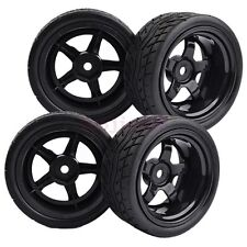 4PCS RC 1:10 On-Road Car 9mm Offset Foam Rubber Tyre Tires Wheels HSP 8030-8004