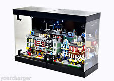 MB Acrylic Display Case LED Light Box for LEGO set 10230 mini Modulars Building