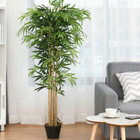5-Feet Artificial Bamboo Silk Tree Green Indoor-Outdoor Home Decoration Planter