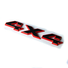 1 OEM RAM 4X4 Emblem Badge Nameplate 3D for Dodge RAM 1500 2500 3500 L Red Frame