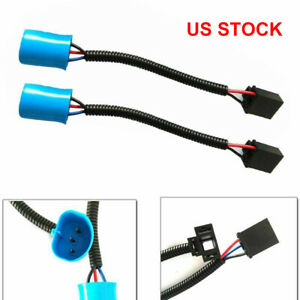 For Hummer H2 LED Headlight 2X 9007 Male to H4 Female Conversion Harness Adapter