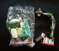 2 Vntg 1993 Hersheys Kurt Adler Wood Painted Christmas Ornament NEW Orig Pkg