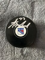 TONY DEANGELO NY RANGERS Signed Autographed PUCK with Case