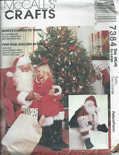 """M 7384 sewing pattern Santa Claus COSTUME adult size 46,48 & 25"""" Christmas Doll"""