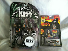Kiss Psycho Circus Tour Edition Peter Criss Action Figure & Gene Simmons Car