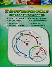 Plaza whitethermometer Densímetro Indoor Outdoor Nevera Hogar Taller Oficina