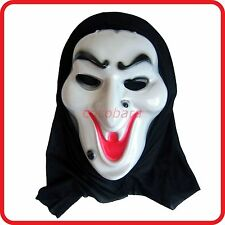 WITCH WITH MOLES-SCREAM GHOST HOODED MASK-HALLOWEEN HORROR SCARY COSTUME