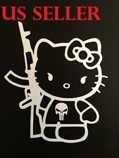 "5""x6"" Hello Kitty AK47 Car Sticker Emblem Label/Window/ LapTop / iPad Stick # 5"