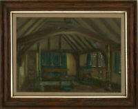 Early 20th Century Watercolour - Interior Scene with Altar