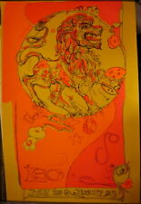 "rare original 1969 Earl Newman Leo silk screen poster 35"" x 23"""