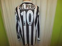 "Juventus Turin Kappa Langarm Trikot 1995-1997 ""SONY"" + Nr.10 Del Piero Gr.XL"