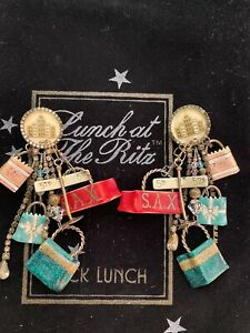 Lunch At The Ritz SHOPPING SPREE clip Earrings