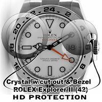 For Rolex Explorer II Crystal Protector HD anti-scratch, wDate Window + Bezel