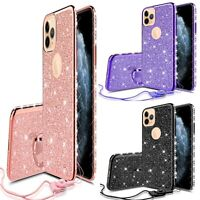 For Apple iPhone 11/Pro/Pro Max Glitter Diamond Bling RingStand Phone Case Cover