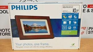 "Philips | Home Essentials | Digital | PhotoFrame 10.1"" | Walnut Wood Frame | New"
